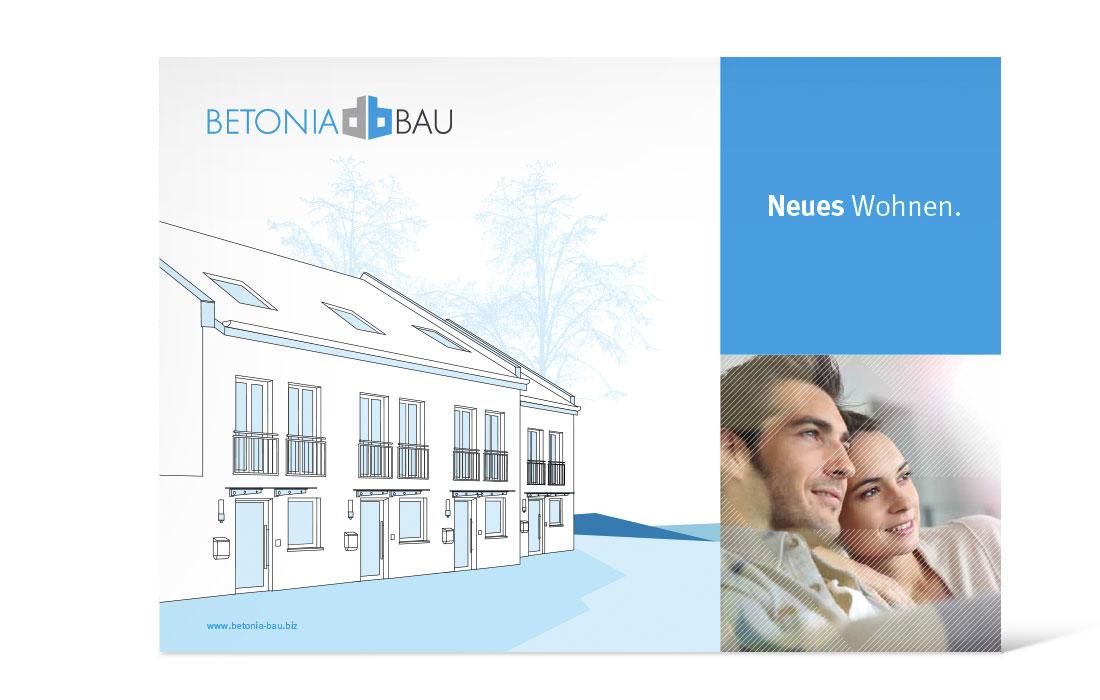 Betonia Bau   Imagebroschüre Titel