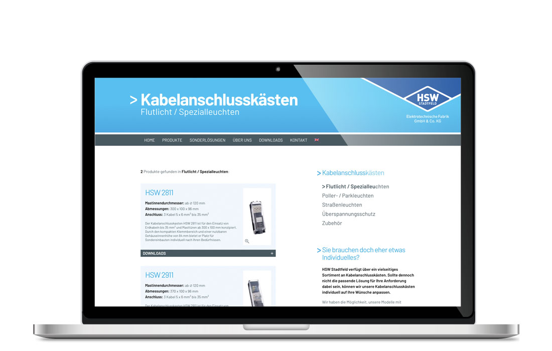 HSW Stadtfeld | Internetseite