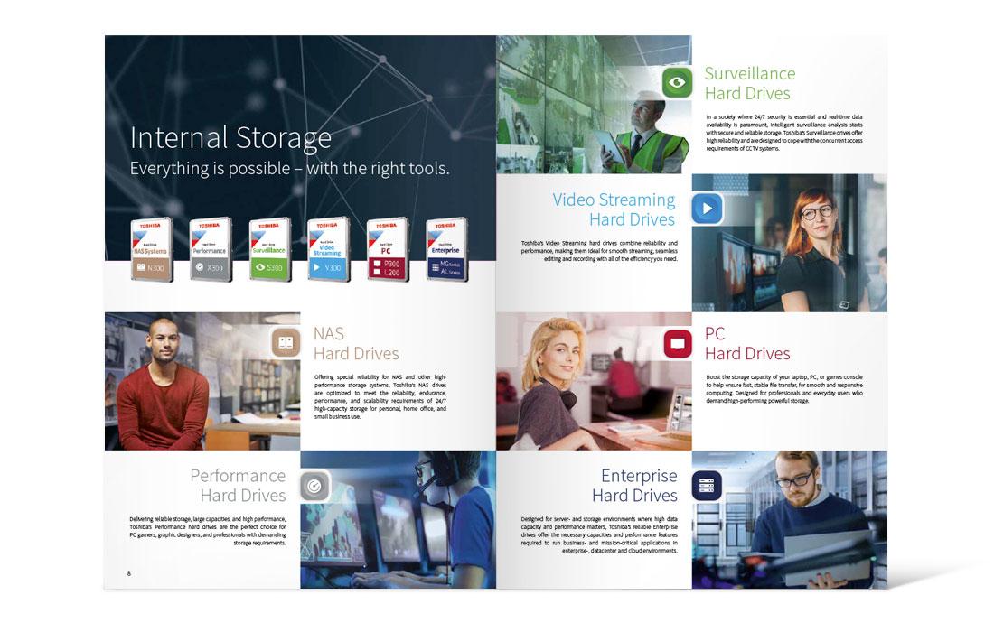 Toshiba   Katalog Storage 2019 Doppelseite