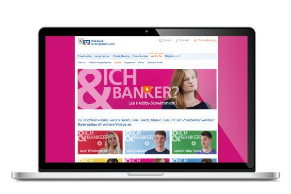 Volksbank Azubi-Kampage   Landingpage