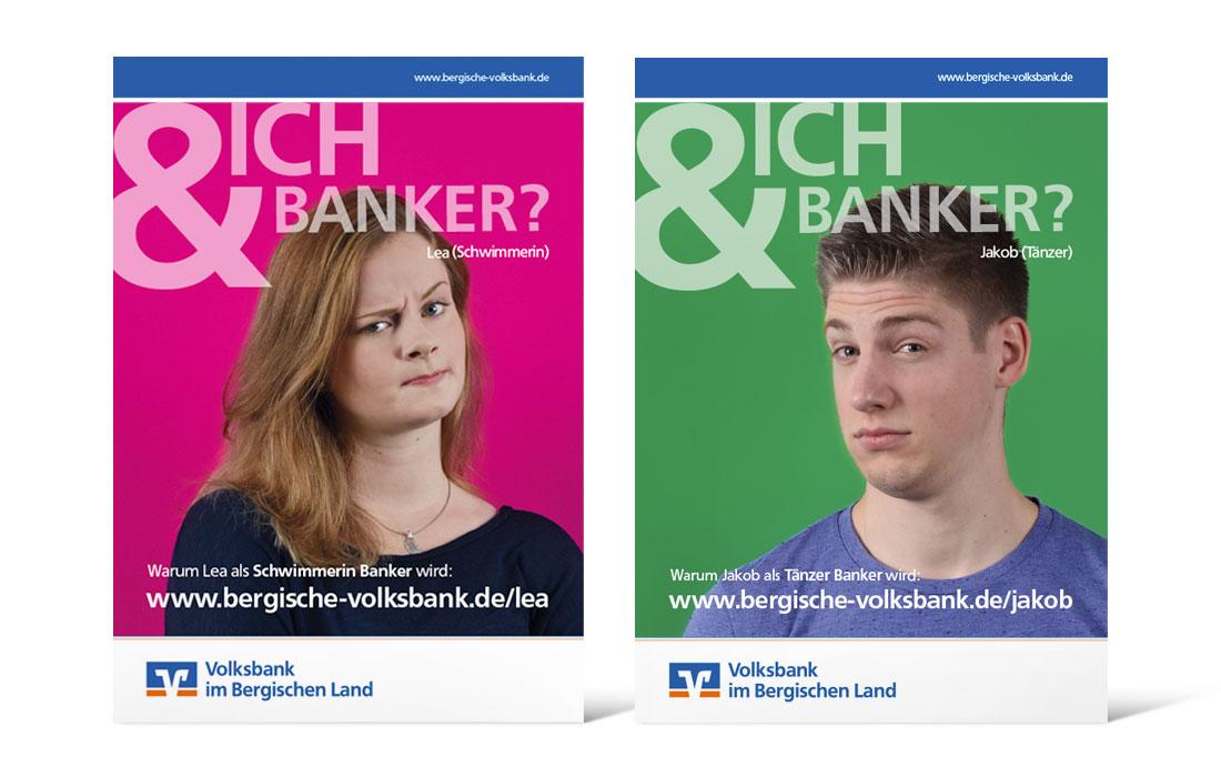 Volksbank Azubi-Kampage   Plakate